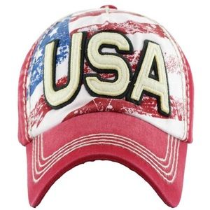 USA Washed Cotton Vintage Style Cap Hat